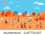 vector illustration in flat... | Shutterstock .eps vector #1167731107