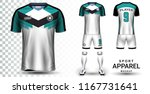 soccer jersey and football kit... | Shutterstock .eps vector #1167731641