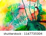 monotype technique. modern art. ...   Shutterstock . vector #1167735304