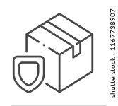 outline protect package icon... | Shutterstock .eps vector #1167738907