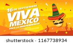 mexican vector banner layout... | Shutterstock .eps vector #1167738934