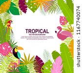 tropical hawaiian summer themed ... | Shutterstock .eps vector #1167740074