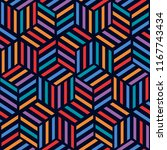 colorful geometric seamless... | Shutterstock .eps vector #1167743434