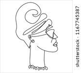 vector hand drawn one line... | Shutterstock .eps vector #1167745387