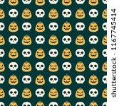 seamless vector pattern on... | Shutterstock .eps vector #1167745414