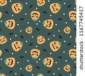 seamless vector pattern on... | Shutterstock .eps vector #1167745417