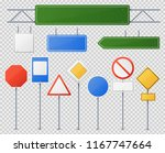 street and road sign set.... | Shutterstock .eps vector #1167747664