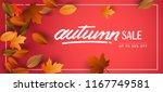 autumn sale background  hand...   Shutterstock .eps vector #1167749581