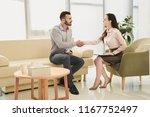 female psychiatrist and patient ... | Shutterstock . vector #1167752497