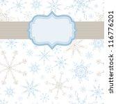 snowflake banner background | Shutterstock .eps vector #116776201