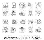 online shop charcoal icons set. ...