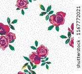 seamless floral pattern.... | Shutterstock .eps vector #1167772021