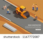 builders and surveyors with... | Shutterstock .eps vector #1167772087