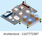 restaurant service isometric... | Shutterstock .eps vector #1167772387