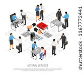 notarial services isometric... | Shutterstock .eps vector #1167772441