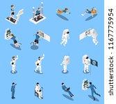 astronaut cosmonaut taikonaut... | Shutterstock .eps vector #1167775954