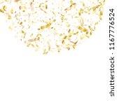 gold shiny realistic confetti... | Shutterstock .eps vector #1167776524