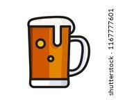 beer mug icon flat | Shutterstock .eps vector #1167777601