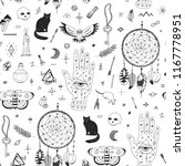 doodle hand drawn seamless... | Shutterstock .eps vector #1167778951