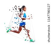 running woman polygonal vector... | Shutterstock .eps vector #1167780127