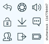 user icons line style set with...   Shutterstock .eps vector #1167784447