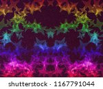 rainbow stars on black glitter... | Shutterstock . vector #1167791044