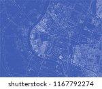bangkok blueprint map. unusual... | Shutterstock .eps vector #1167792274