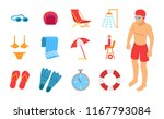 man in diving clothes with... | Shutterstock .eps vector #1167793084