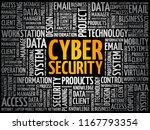 cyber security word cloud... | Shutterstock .eps vector #1167793354