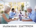 group of friends interacting... | Shutterstock . vector #1167799054