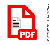 pdf file document icon.... | Shutterstock .eps vector #1167809677