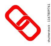 link sign icon. hyperlink chain ... | Shutterstock .eps vector #1167809761