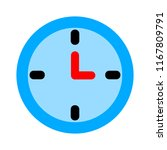 clock icon   vector clock... | Shutterstock .eps vector #1167809791