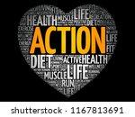 action heart word cloud ... | Shutterstock .eps vector #1167813691