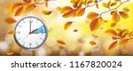 autumn beech foliage with... | Shutterstock .eps vector #1167820024