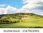 beautiful view of pienza on a... | Shutterstock . vector #1167822001