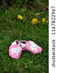 genuine pink leather baby shoes ... | Shutterstock . vector #1167822967