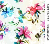 seamless background floral... | Shutterstock .eps vector #1167831391