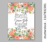 peach peony wedding invitation... | Shutterstock .eps vector #1167832381