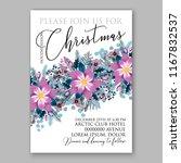poinsettia christmas party... | Shutterstock .eps vector #1167832537