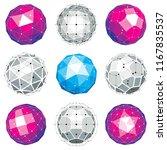 set of vector low poly... | Shutterstock .eps vector #1167835537