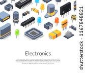 banner vector isometric... | Shutterstock .eps vector #1167848821