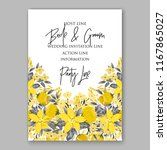 wedding invitation floral... | Shutterstock .eps vector #1167865027