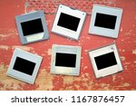 old grungy photographic slides  ... | Shutterstock . vector #1167876457