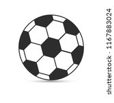 soccer ball vector icon  | Shutterstock .eps vector #1167883024