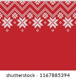 winter sweater fairisle design. ... | Shutterstock .eps vector #1167885394