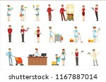 hotel staff set for label... | Shutterstock .eps vector #1167887014