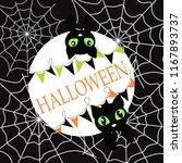 halloween dark banner with... | Shutterstock .eps vector #1167893737