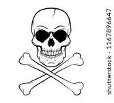 vector skull design   design... | Shutterstock .eps vector #1167896647