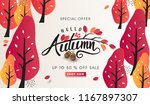 autumn sale background layout... | Shutterstock .eps vector #1167897307